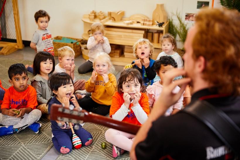 music incursion at Choklits Child Care